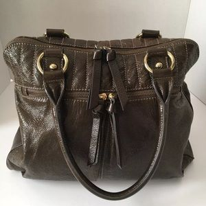J. Crew Collection Brown Leather Bag